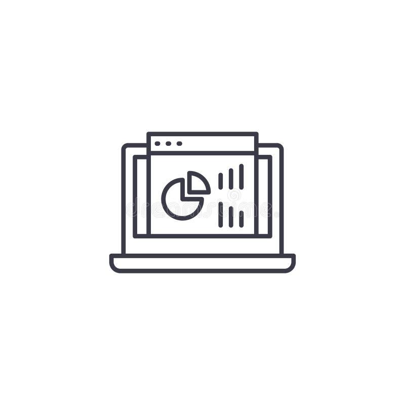 Conceito linear do ícone do painel do projeto Projete a linha sinal do painel do vetor, símbolo, ilustração ilustração stock
