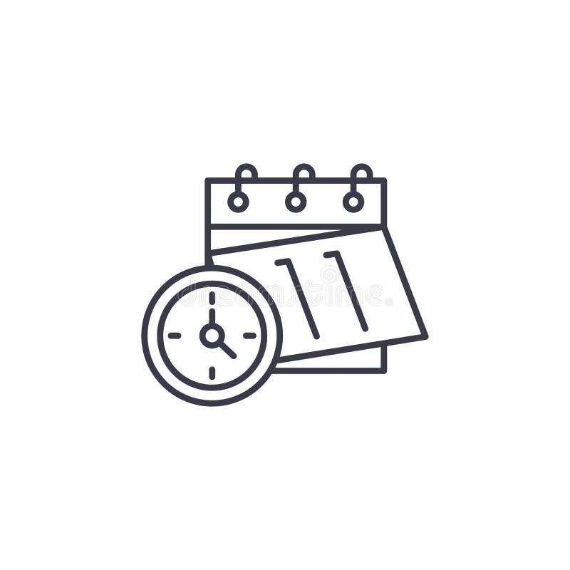 Conceito linear do ícone do plano da programação Linha sinal do plano da programação do vetor, símbolo, ilustração ilustração royalty free