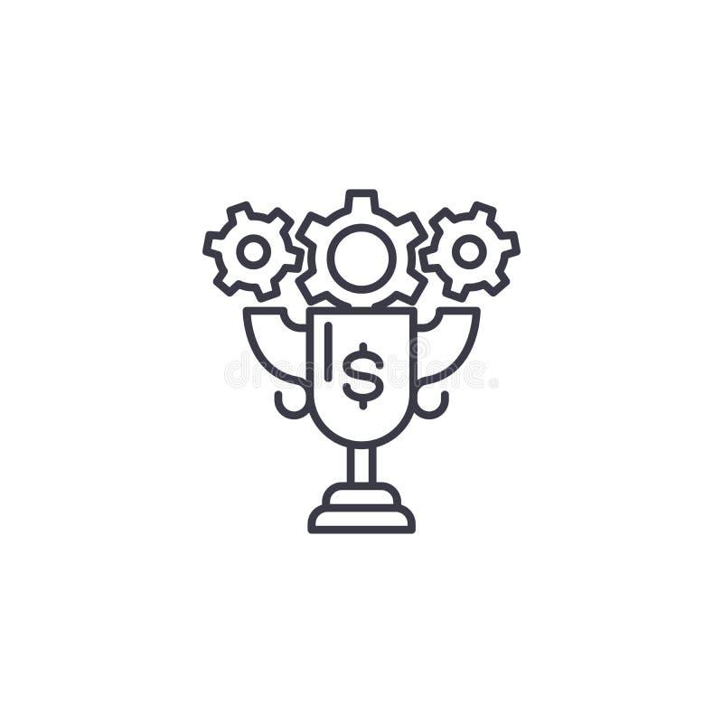 Conceito linear do ícone do troféu de Triumph Linha sinal do troféu de Triumph do vetor, símbolo, ilustração ilustração do vetor