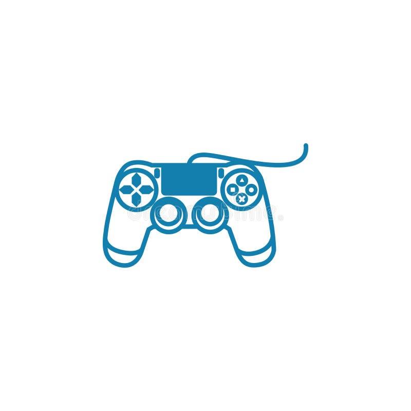 Conceito linear prendido do ícone do gamepad Linha prendida sinal do gamepad do vetor, símbolo, ilustração ilustração royalty free
