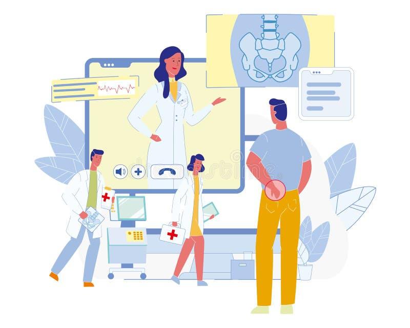 Conceito liso do vetor das tecnologias futuras dos cuidados médicos ilustração royalty free