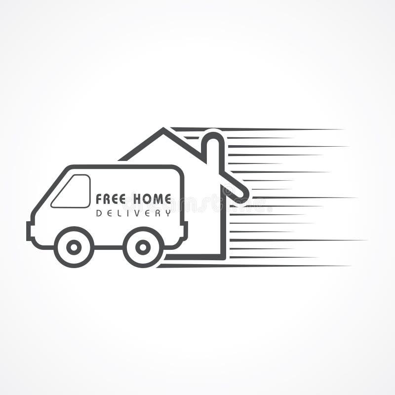 Conceito livre da entrega a domicílio para o aumento a venda ilustração royalty free