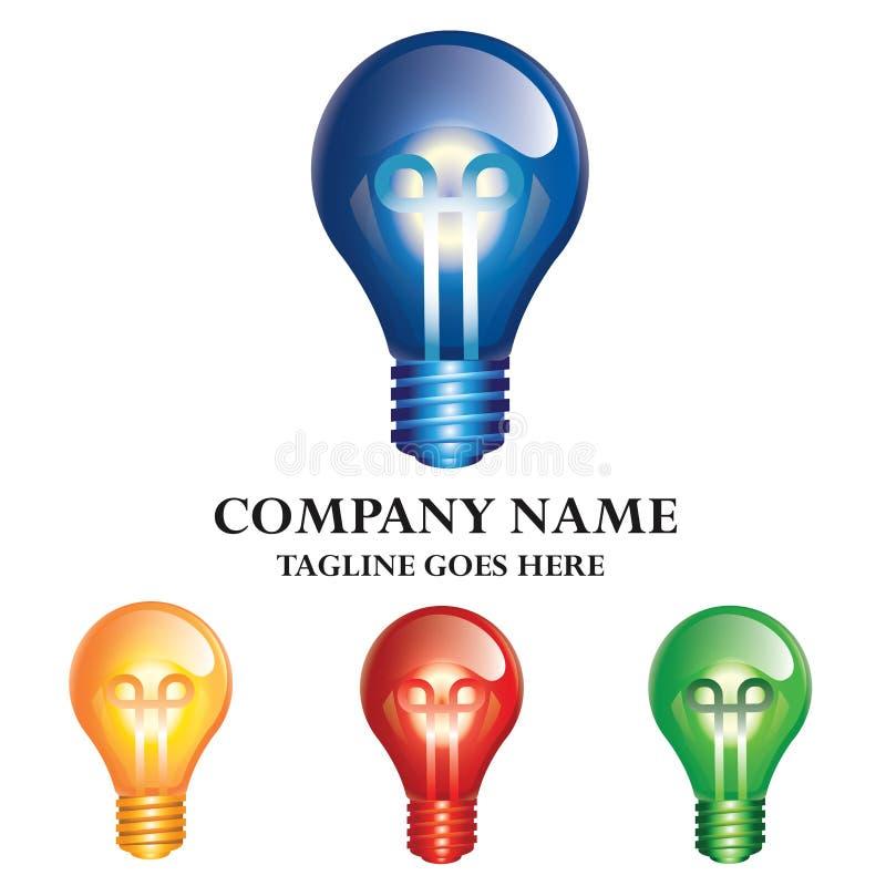 Conceito Logo Design da energia da ampola ilustração royalty free