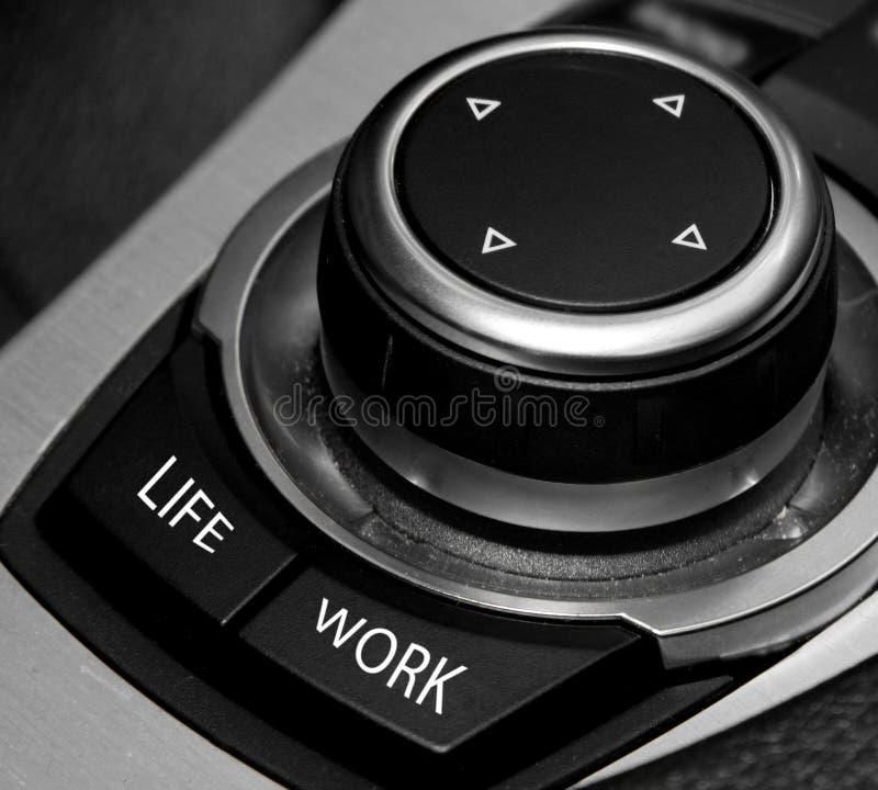 Conceito longo das horas do trabalho do balanço da vida do trabalho foto de stock royalty free