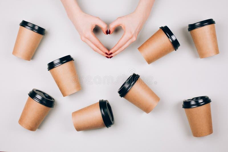 Conceito loving do café fotografia de stock