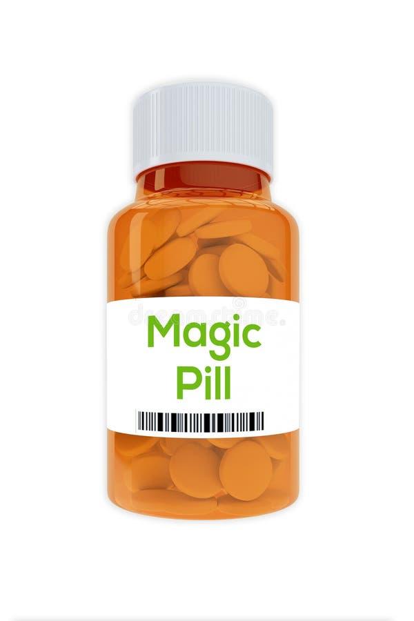 Conceito mágico do comprimido ilustração royalty free