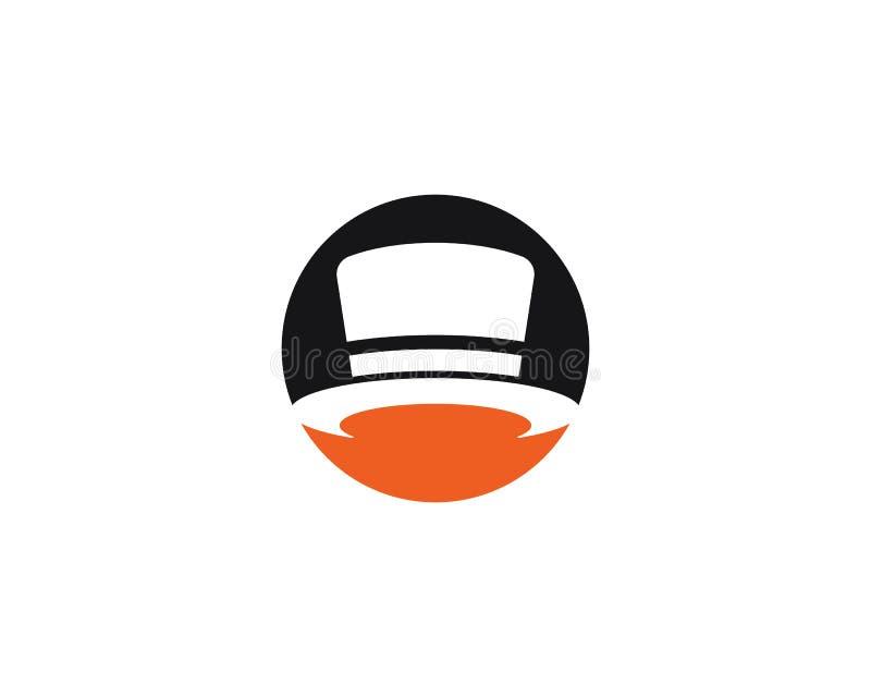 Conceito mágico do logotipo do tampão, ilustração do vetor ilustração royalty free