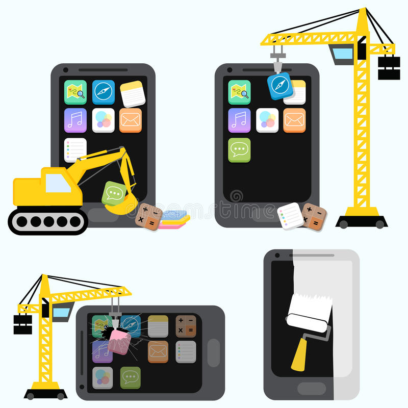 Conceito médico da aplicação móvel ilustração stock
