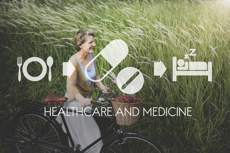 Conceito médico da saúde da medicamentação da medicina dos cuidados médicos foto de stock