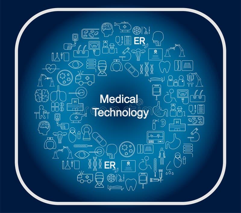 Conceito médico da tecnologia ilustração stock