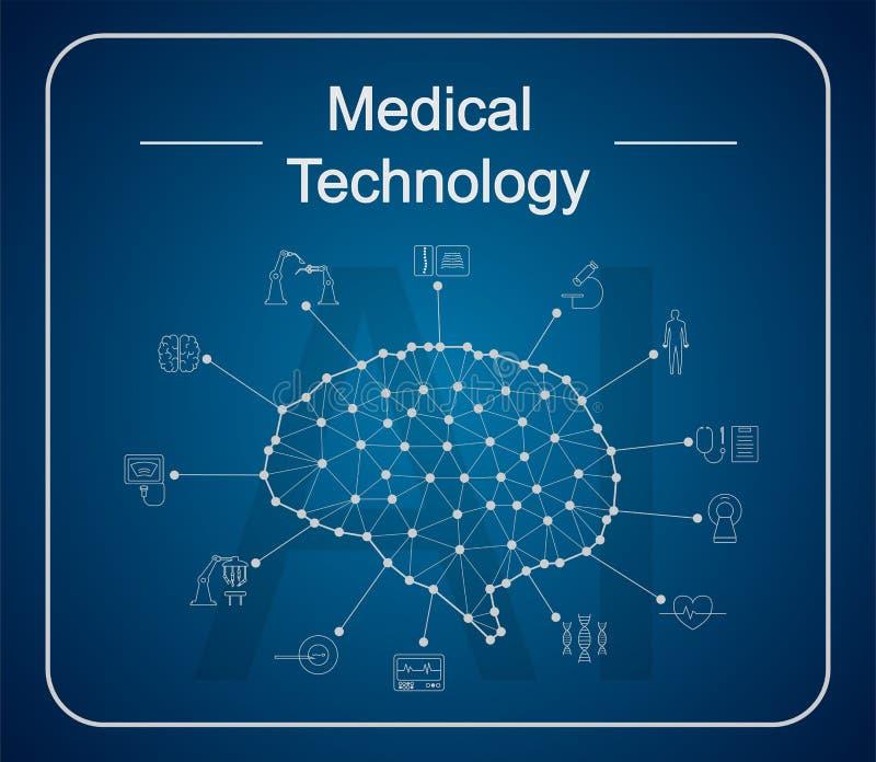 Conceito médico da tecnologia ilustração do vetor