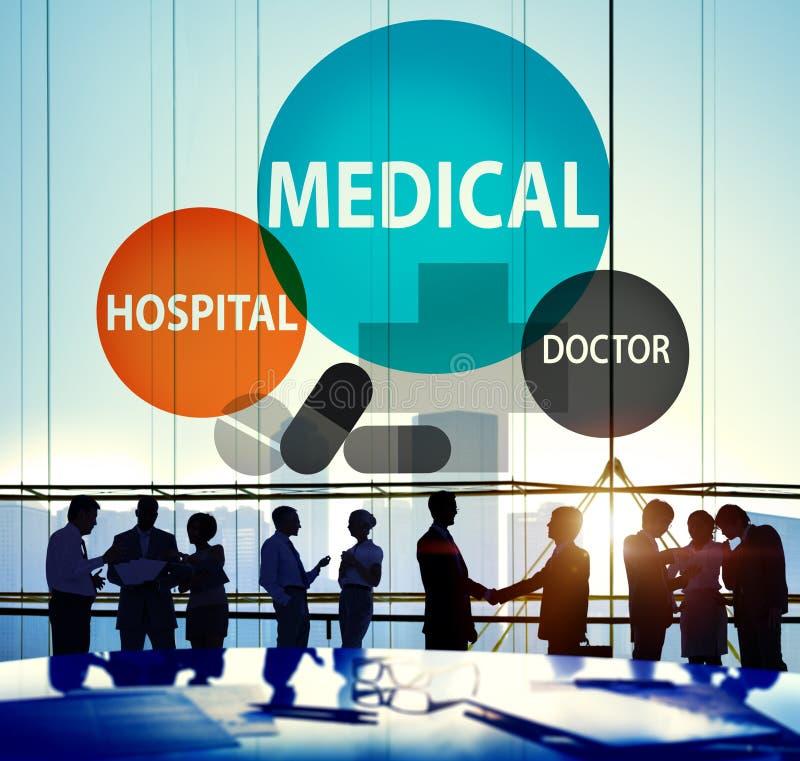Conceito médico da vida do bem-estar dos cuidados médicos do hospital fotos de stock