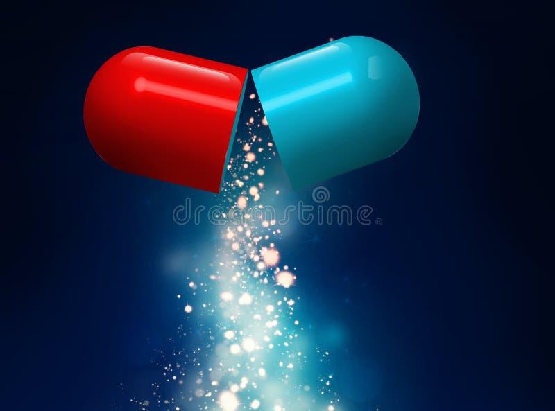Conceito médico do comprimido ilustração stock
