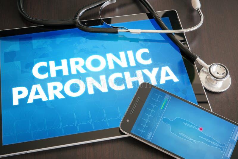 Conceito médico do diagnóstico crônico do paronchya (doença cutâneo) fotografia de stock