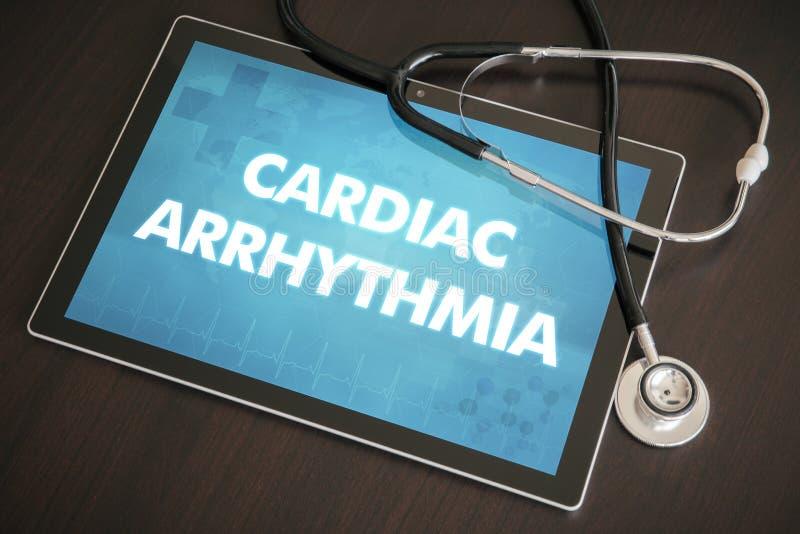 Conceito médico do diagnóstico da arritmia cardíaca (desordem de coração) sobre imagens de stock royalty free
