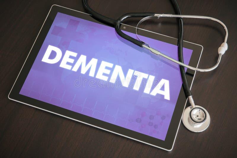 Conceito médico do diagnóstico da demência (desordem neurológica) em Ta imagem de stock