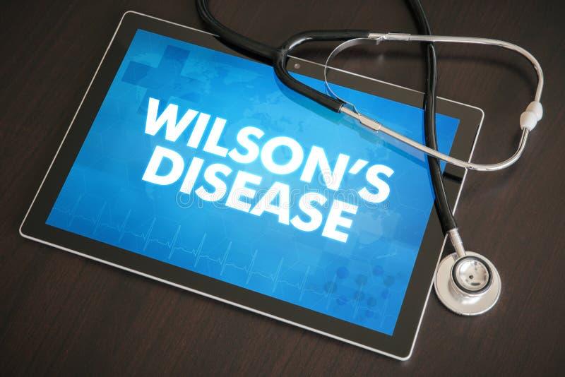 Conceito médico do diagnóstico da doença de Wilson (infecção hepática) fotos de stock