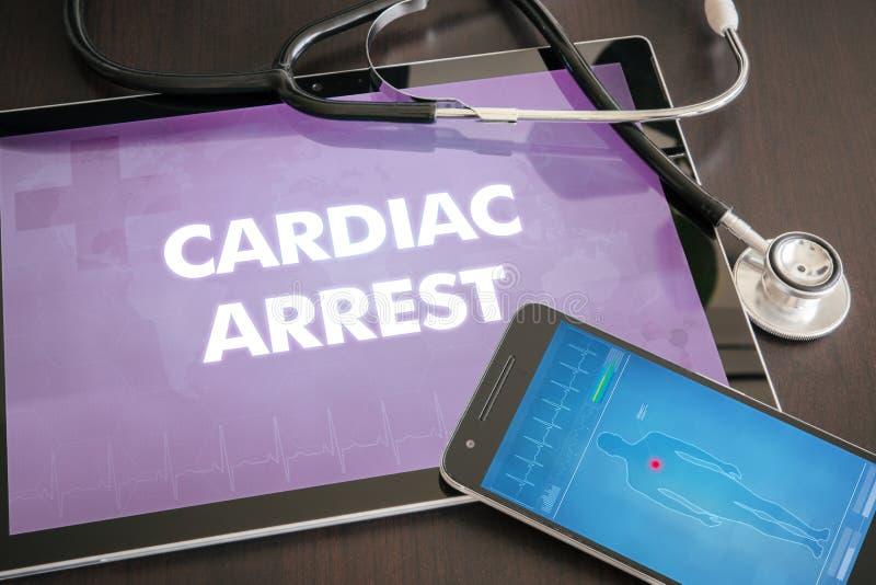 Conceito médico do diagnóstico da parada cardíaca (desordem de coração) na aba imagens de stock