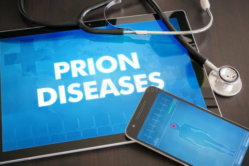 Conceito médico do diagnóstico das doenças do prião (desordem neurológica) foto de stock royalty free