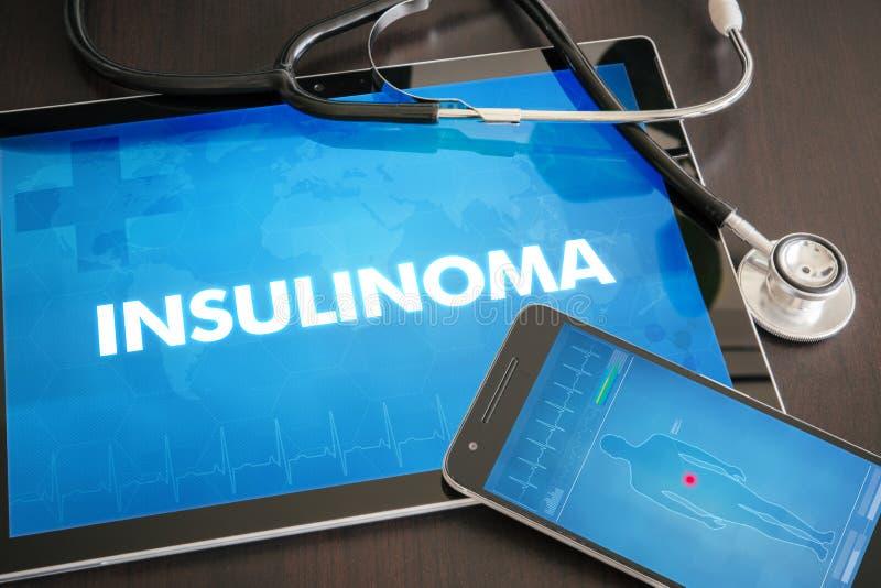 Conceito médico do diagnóstico de Insulinoma (doença da glândula endócrina) no tabl fotografia de stock