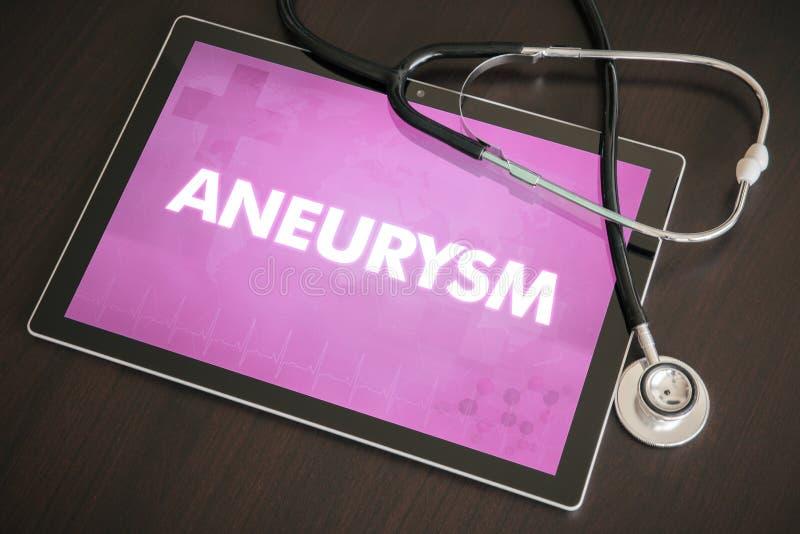 Conceito médico do diagnóstico do aneurisma (desordem neurológica) imagens de stock