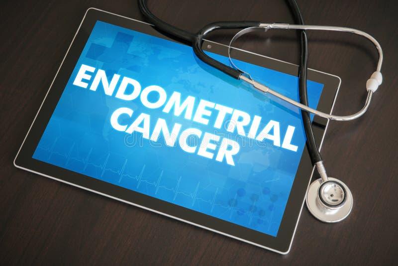 Conceito médico do diagnóstico do câncer Endometrial (tipo do câncer) em Ta fotografia de stock royalty free