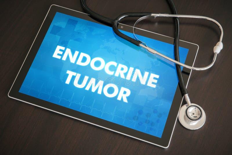 Conceito médico do diagnóstico do tumor da glândula endócrina (doença da glândula endócrina) sobre imagem de stock royalty free