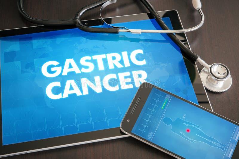 Conceito médico do diagnóstico gástrica do câncer (tipo do câncer) na tabuleta foto de stock royalty free