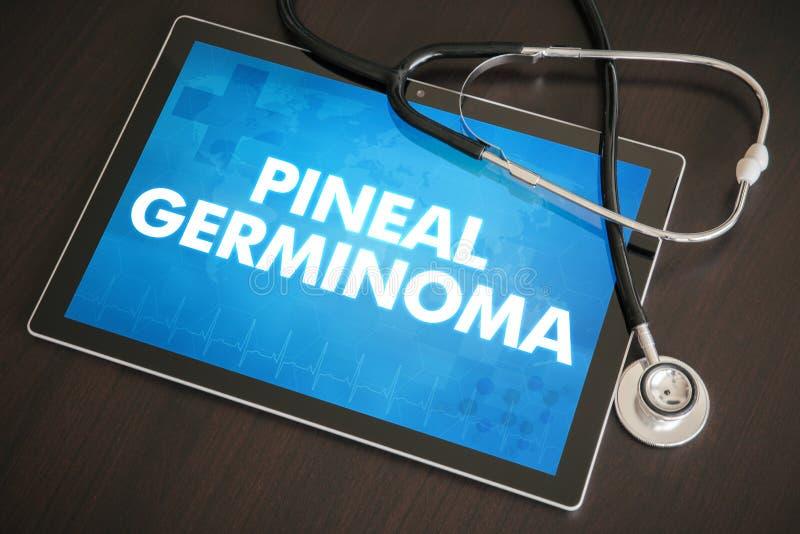 Conceito médico do diagnóstico Pineal do germinoma (tipo do câncer) no tabl fotos de stock