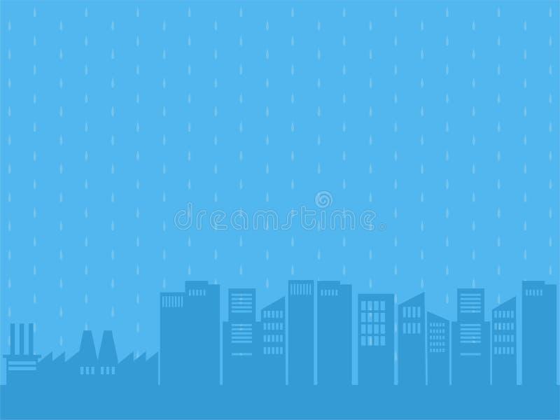 Conceito médico dos cuidados médicos do dia chuvoso ilustração do vetor