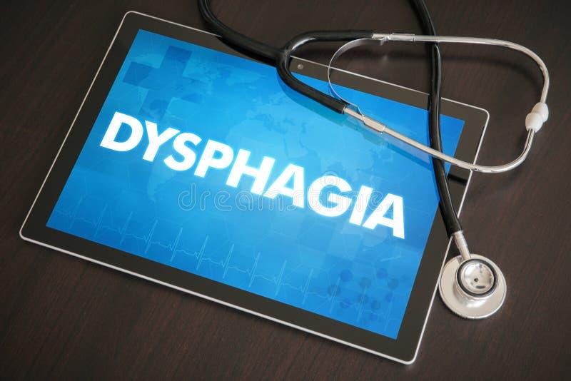 Conceito médico o do diagnóstico da disfagia (doença gastrintestinal) ilustração royalty free