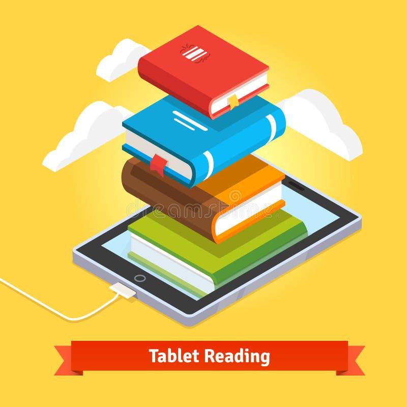 Conceito móvel da educação da tecnologia ilustração stock