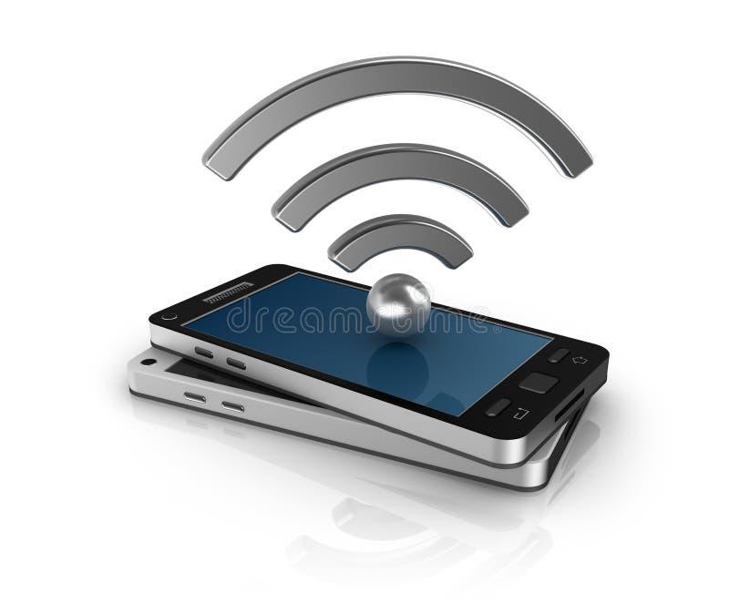 Conceito móvel da rede ilustração do vetor