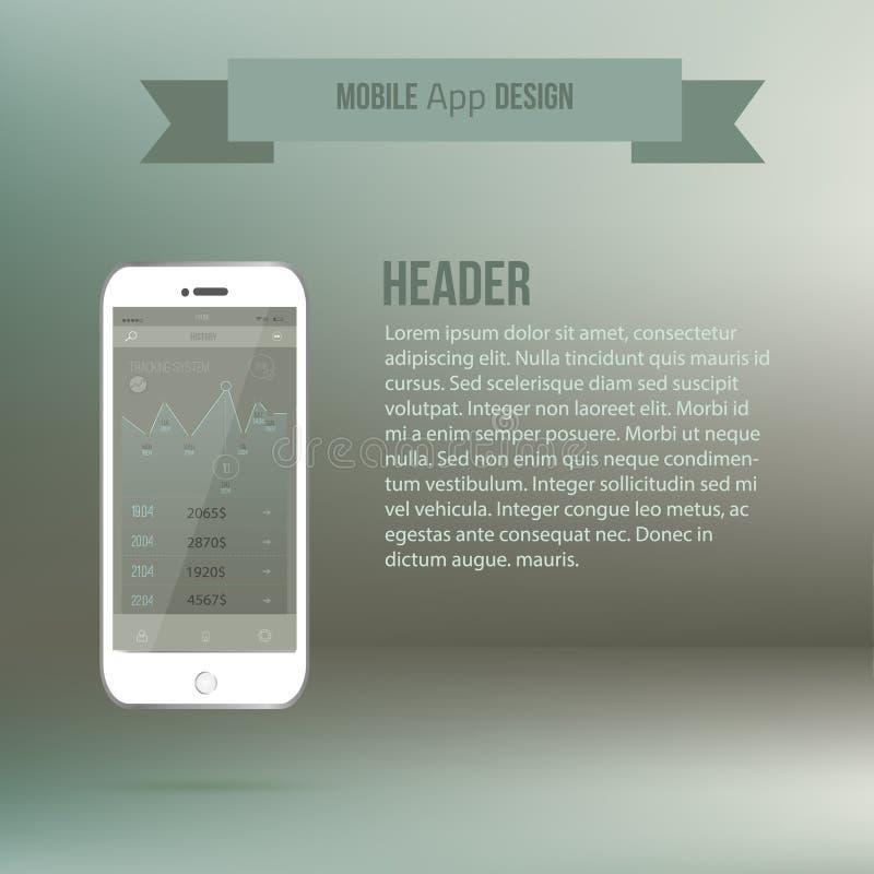 Conceito móvel da relação UI da aplicação do vetor ilustração stock