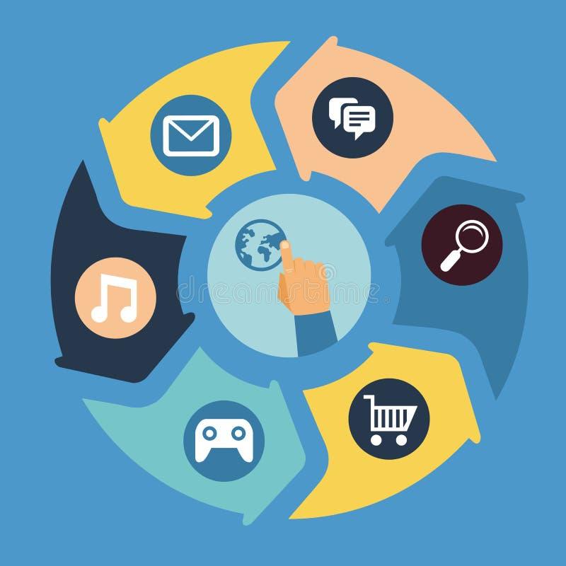 Conceito móvel da tecnologia do app do vetor ilustração do vetor