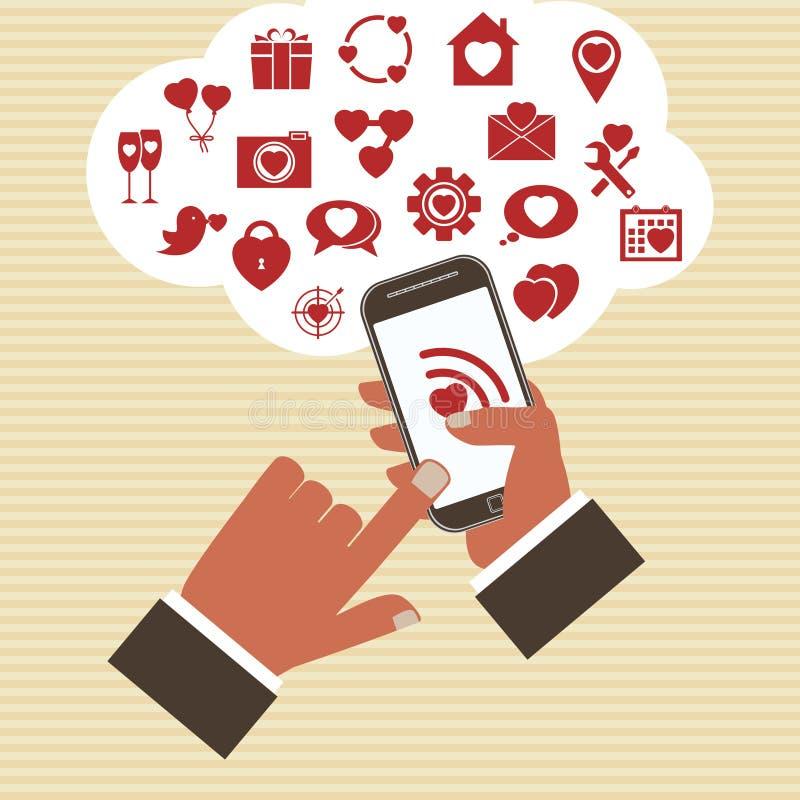 Conceito móvel do desenvolvimento do app do vetor. ilustração do vetor