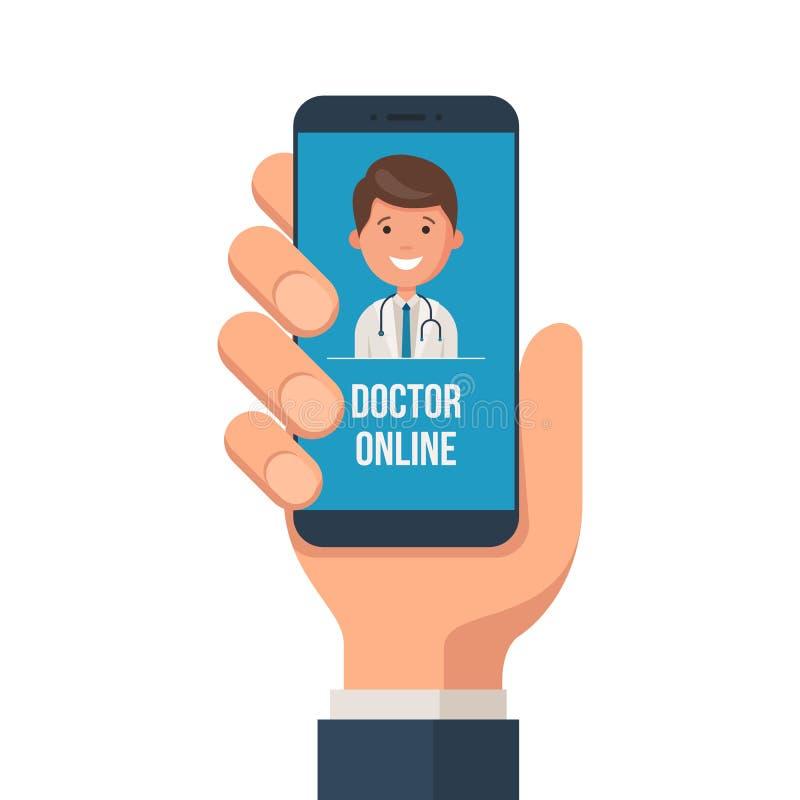 Conceito móvel do serviço dos cuidados médicos ilustração stock