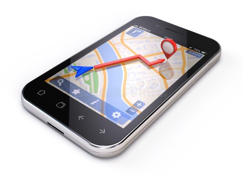 Conceito móvel dos gps ilustração stock