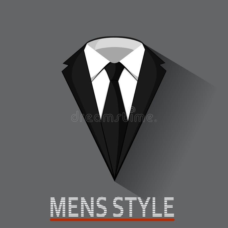 Conceito masculino do terno da roupa do estilo do negócio ilustração do vetor
