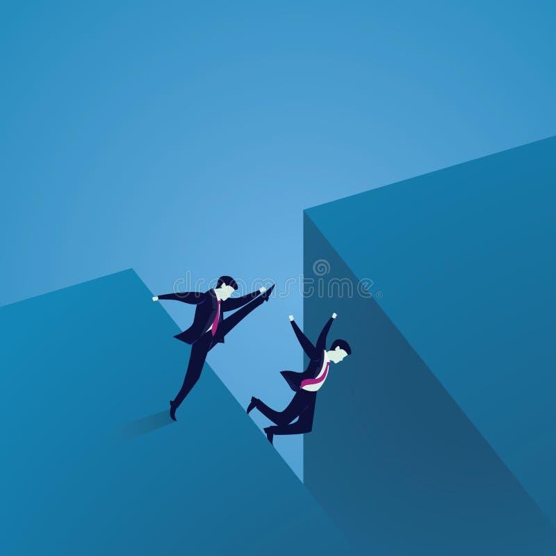 Conceito mau da competição do negócio ilustração stock