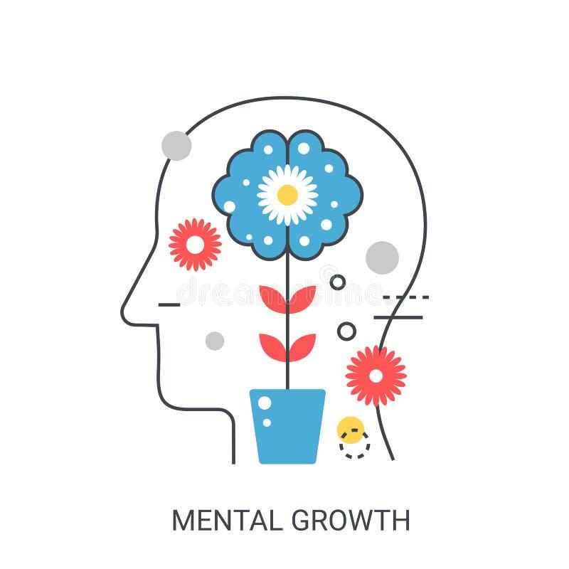 Conceito mental da ilustração do vetor do crescimento ilustração stock