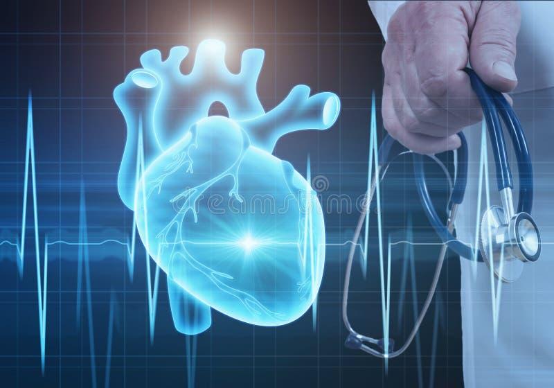 Conceito moderno da cardiologia da medicina foto de stock