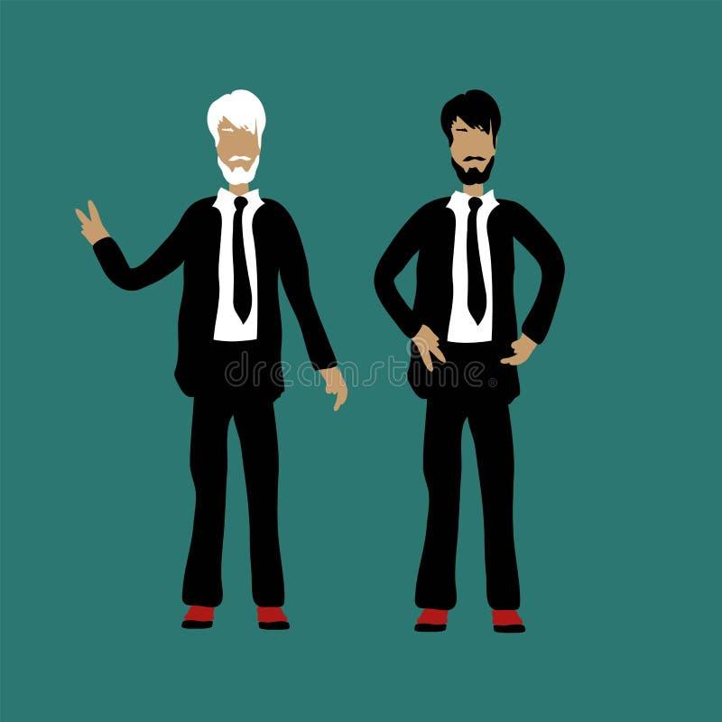 Conceito moderno da ilustração do vetor do estilo liso do projeto de escaladas bem sucedidas do homem de negócios em cima para o  ilustração do vetor