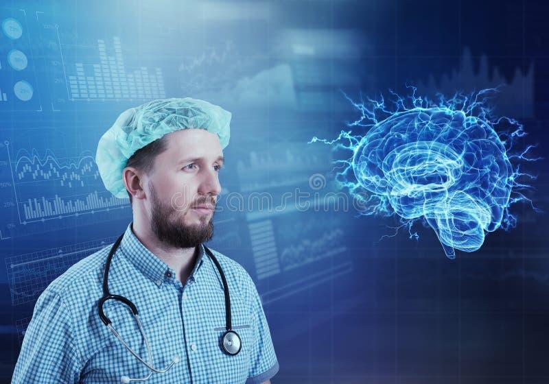 Conceito moderno da neurologia da medicina imagem de stock royalty free