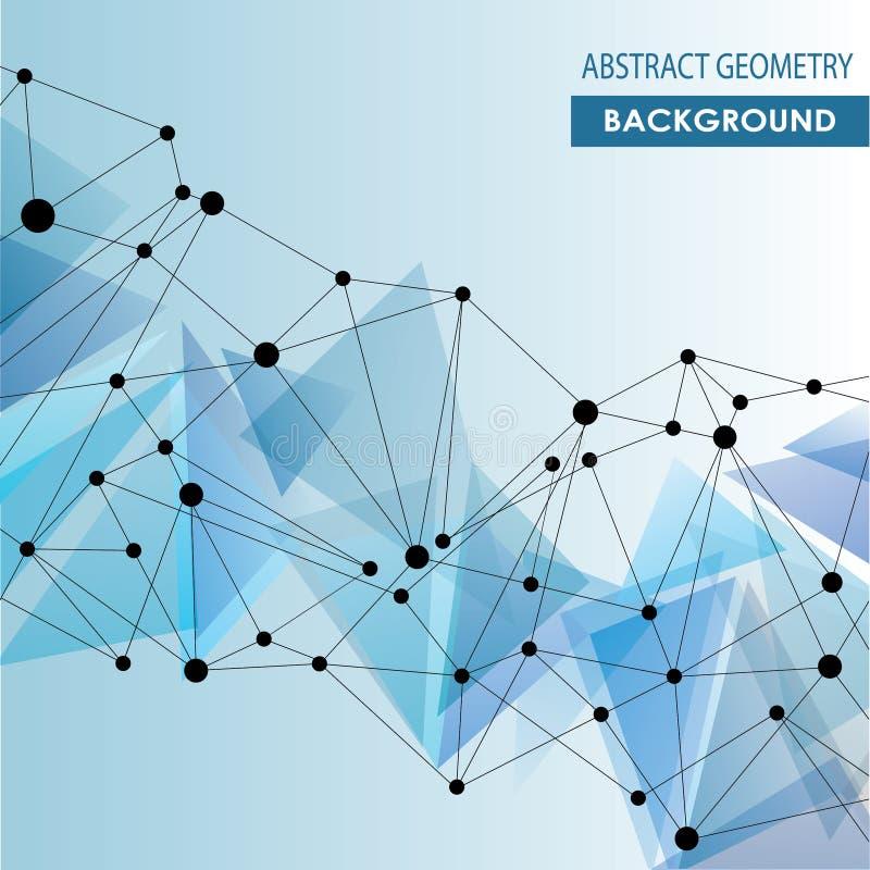 Conceito molecular abstrato do vetor da conexão ilustração stock