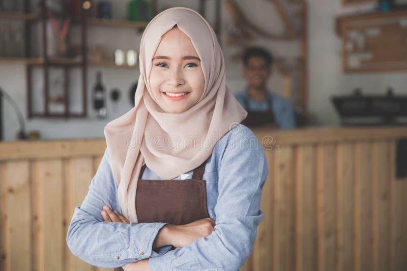 Conceito muçulmano do empresário da mulher foto de stock royalty free