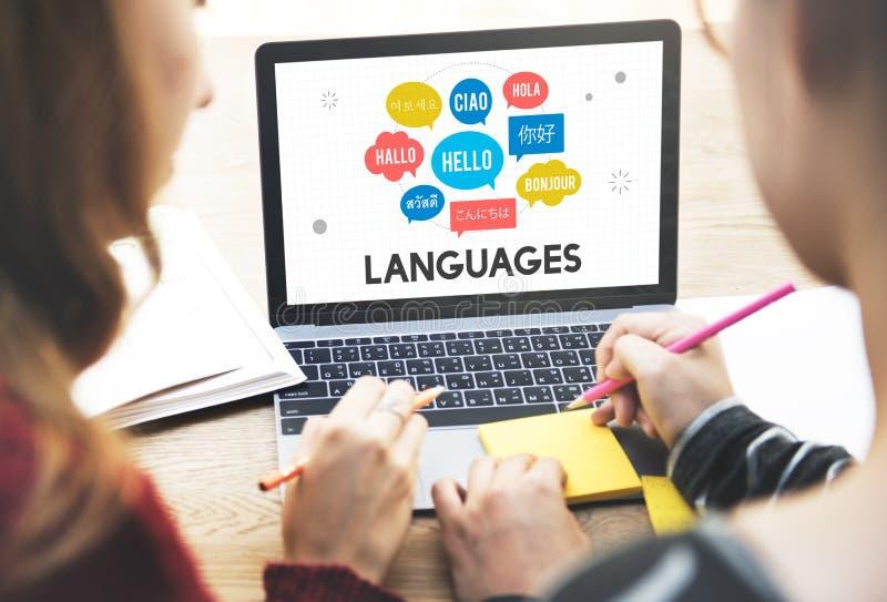 Conceito multilingue das línguas dos cumprimentos fotos de stock