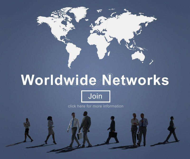 Conceito mundial da tecnologia da globalização da conexão de redes imagens de stock royalty free