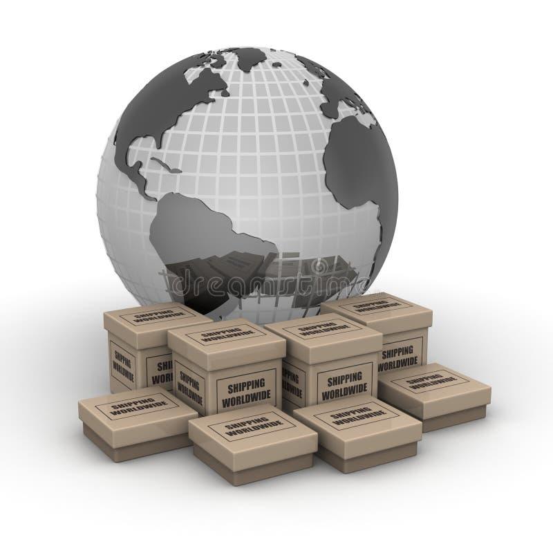 Conceito mundial de envio ilustração stock