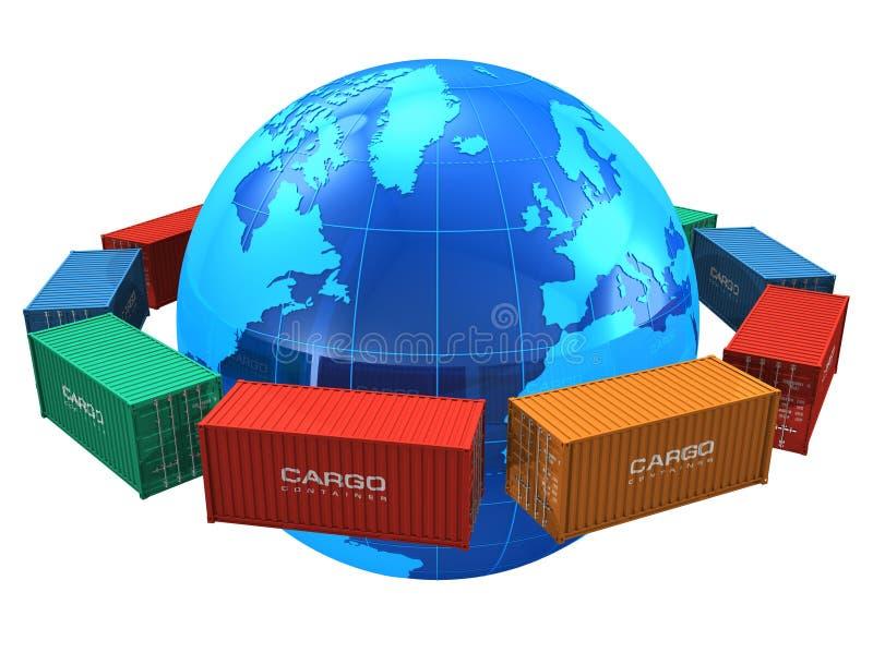 Conceito mundial do transporte ilustração do vetor